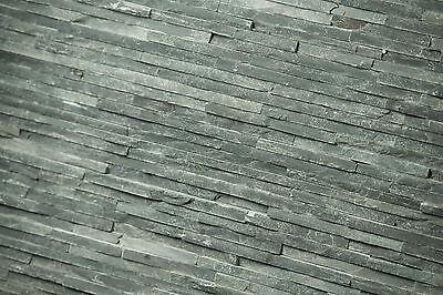 Naturstein Verblender Grau schmal, Wandverblender, Riemchen, Echtstein, Schiefer