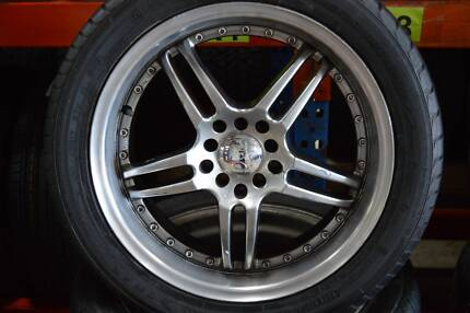 """4 SET MAG WHEELS WITH TYRE 17"""" SPORT+GOOD CONDITION MULTI 5 STUDS Virginia Brisbane North East Preview"""