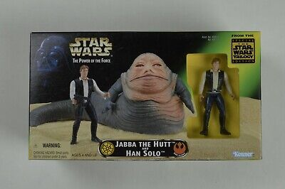 Star Wars Power of the Force Unopened Jabba the Hutt and Han Solo Kenner