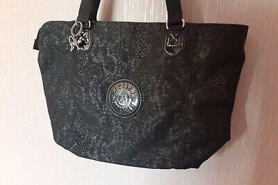Kipling Large Black Shopper Tote Style Bag Excellent Condition
