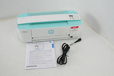 SEE NOTES HP DeskJet 3755 Compact All in One Wireless Printer Works W Alexa