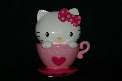 Hello Kitty Ceramic Piggy Bank Teacup  NEW 8""