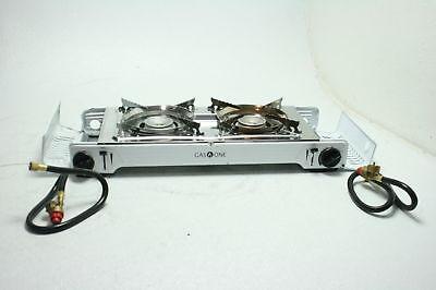 Gas ONE GS-2000 Dual Fuel Portable Propane/Butane Double Stove w/Non Stick Grill