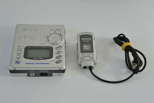 AIWA AM-F65 Silver Color METAL Made in Japan MiniDIsc RECORDER Remote RC-F65