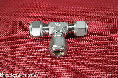Ssp Griplok 38 Tube Od Union Teet Compression Fitting 316 Stainless Steel