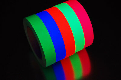 1 Inch UV Blacklight Reactive Fluorescent Gaffer Tape 1 Roll x 25 Yards (Blacklight Reactive)