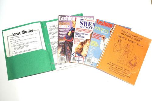 Superba/White 1602 Instruction Guide Knitting Machine Fashion Magazine Lot