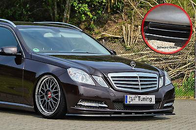 Spoilerschwert Frontspoiler Lippe ABS MB E-Klasse W212 mit ABE schwarz glänzend