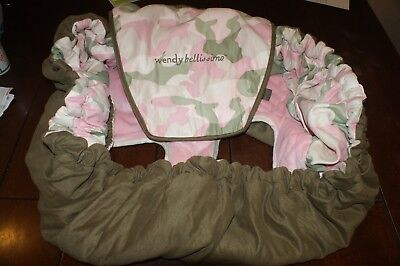 Wendy Bellissimo shopping cart/high chair cover lux seat cover Pink - Camo High Chair