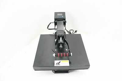 Co-z 15x15 Inch Dual Display All In One Heat Press Machine For Clothes Black