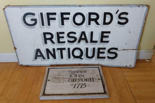 Revolutionary War Patriot Privateer Smuggler JOHN GIFFORD Westport,MA 2 signs
