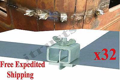 32pcs Sheet Metal Panel End Welding Holder Clamp Nut Edge-to-edge