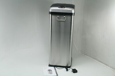 iTouchless 13 Gallon Stainless Steel Touchless Sensor Trash Can w AC Adapter