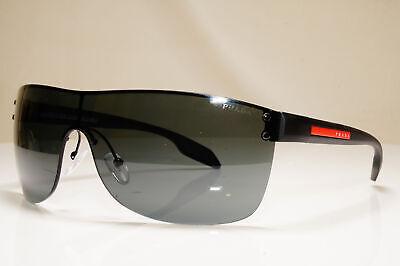 PRADA Mens Designer Sunglasses Black Shield SPS 54P 1BO-1A1 26395