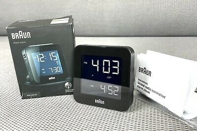 Braun BNC009BK-RC RADIO CONTROLED Digital Quartz Alarm Clock