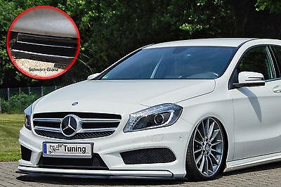 Schwert Frontspoiler ABS Mercedes A-Klasse AMG-Line W176 ABE schwarz glänzend