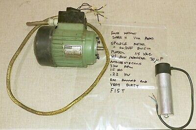 Emco Maximat Super 11 Lathe Vma Parts 1p 115 Vac Spindle Motor 0.30 Hp F15t