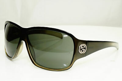 Authentic Gucci Mens Womens Vintage Sunglasses Crystal Grey GG 2537 LT9 32004
