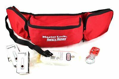 Master Lock Portable Electrical Lockout Kit 16 Pc Belt W Pouches 1456p410ka