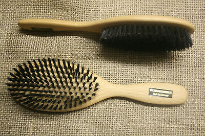Haarbürste Wildschweinborsten, Naturborste, Holzbürste, Naturhaarbürste, neu