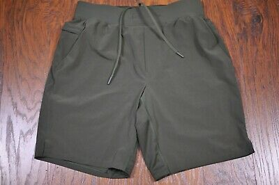 "Lululemon T.H.E. Linerless 9"" Shorts Green Men's Medium M"