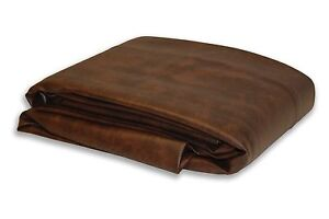 New Heavy Duty Billiard 8 ft foot Dark Brown Fitted Leatherette Pool Table Cover