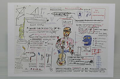 "JEAN-MICHEL BASQUIAT /""NOTEBOOK 5/""  Kunst-Postkarte"