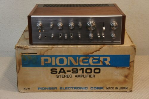 PIONEER SA-9100 STEREO AMPLIFIER WITH ORIGINAL SHIPPING BOX