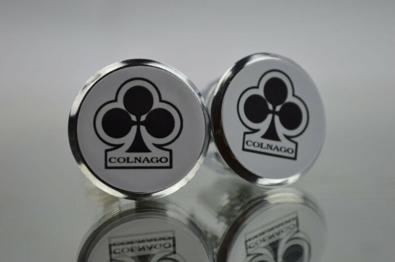 Colnago club white Plugs Caps Topes Tapones guidon bouchons lenker endkappe