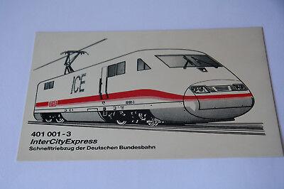 Eisenbahn Sammeln - Siebdruck auf Kunststoff Schild  Intercityexpress ()
