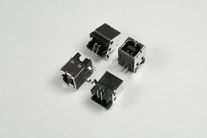 Lot of 4 292304-1 TE Conn USB-B Receptacle Connector 4 Position Through Hole RA