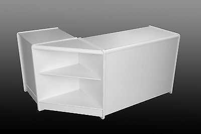 WHITE SHOP DISPLAY SALES COUNTER STORAGE WORK TILL STATION -  FULLY ASSEMBLED!!!