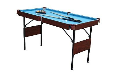"Playcraft Sport 54"" Pool Table with Folding Legs and Playing Equipment - Folding Leg Pool Table"