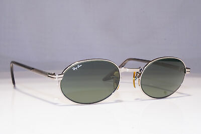 RAY-BAN Mens Vintage 1990 Sunglasses Silver Oval W2187 BAUSCH LOMB 23392