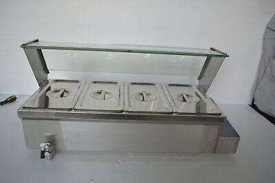 Techtongda 4-pan Food Warmer Steam Table 304stainless Steel 110v 1500w Us Seller