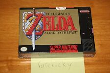 Zelda A Link to the Past (SNES) NEW SEALED FIRST PRINT NOT FOR RESALE NFR, RARE!