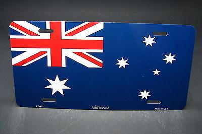 Australia Flag License Plate - AUSTRALIA FLAG METAL ALUMINUM CAR LICENSE PLATE TAG