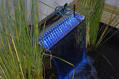 OASE Waterfall 90 inkl. blauer LED Beleuchtung | Wasserfallschale | Speier 50706 Fall Blaue Led