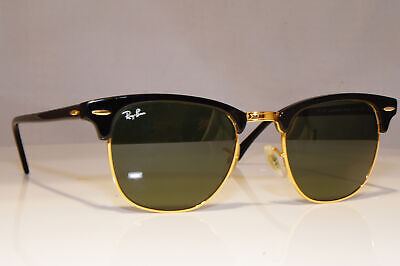 RAY-BAN Mens Designer Sunglasses Black Clubmaster RB 3016 W0365 23788