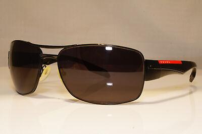 PRADA Mens Designer Sunglasses Black Rectangle SPS 53N 1BO-5Z1 22635