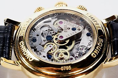 Russian Mechanical Chronograph Poljot 3133 watch President Putin Gold, Black