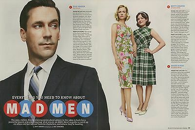 Jon Hamm  Elisabeth Moss  Mad Men 4Pg Entertainment Weekly Feature  Clippings