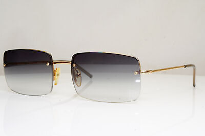 Authentic GUCCI Mens Vintage Designer Sunglasses Gold Square GG 1643 T2J 29230