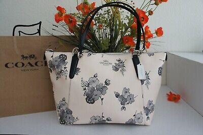Floral Purse Bag (NWT COACH F73719 Fairy Tale Floral Print Ava Tote Shoulder Bag Purse Chalk Multi)