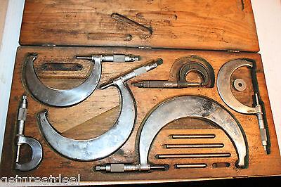 Vintage Tumico Tubular Light Weight Outside Micrometer Set T-600lnr 5pcs