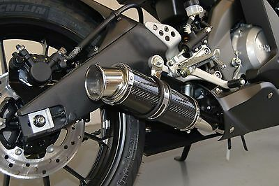 Yamaha MT125 14-16 SP Engineering Carbon Stubby Big Bore Exhaust Full System