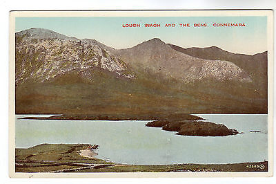 Lough Inagh And The Bens - Connemara Photo Postcard c1920s