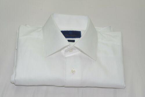 $135 NWOT David Donahue Trim Fit French Cuff Tuxedo or Dress Shirt 15 1/2 -34/35