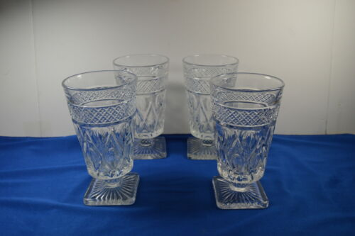 """Set of 4 Imperial Glass Cape Cod Stemmed Goblets 6"""" Tall"""