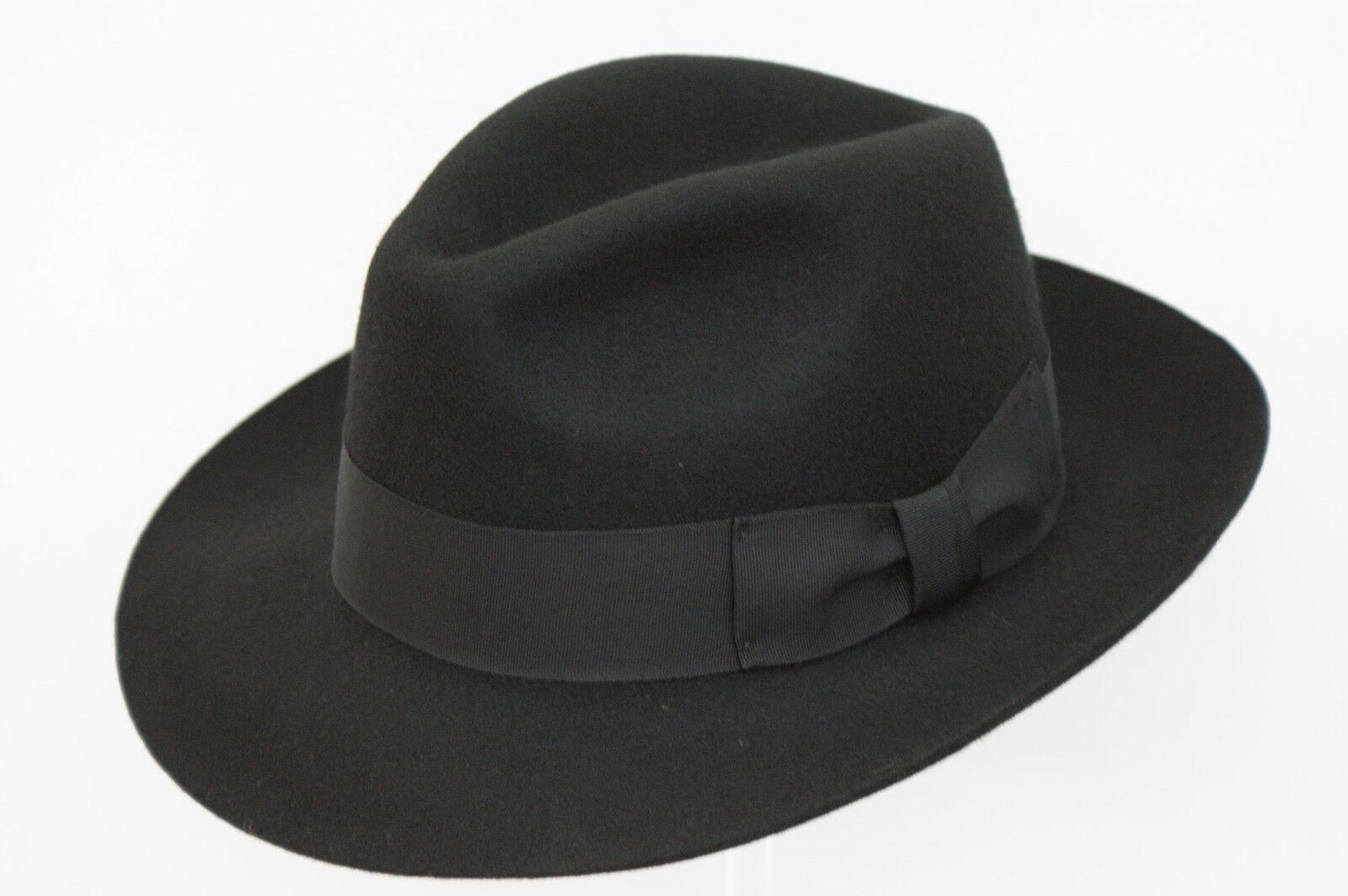 Homme Lilas 100/% Laine Main Fabriqué Plus Large Bordure Feutre Fedora avec Bande